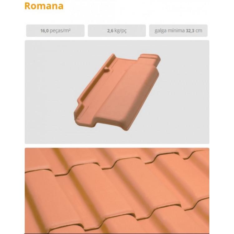 telhas ceramicas resinadas , portugesa , romana e americana