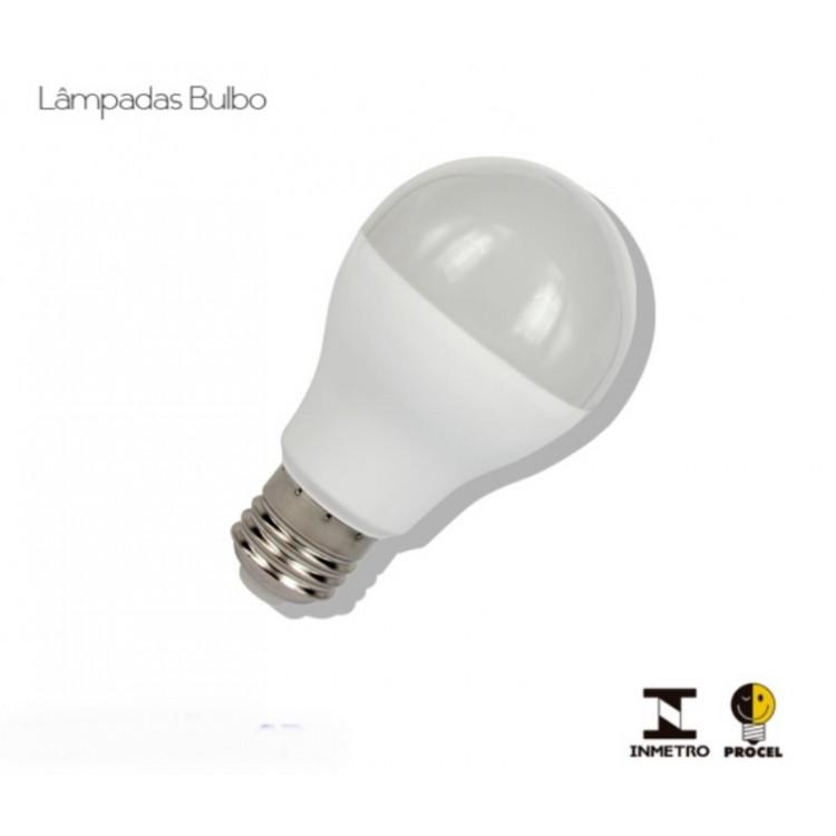 lampada led bulbo 7,5 w embalagem com 10
